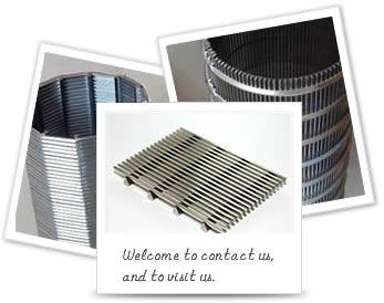 Stainless steel wedge wire screens in flat shape and cylindrical shape